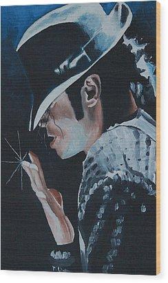 Michael Jackson Wood Print by Mikayla Ziegler