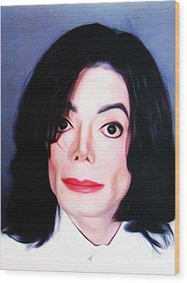 Michael Jackson Mugshot Wood Print by Bill Cannon