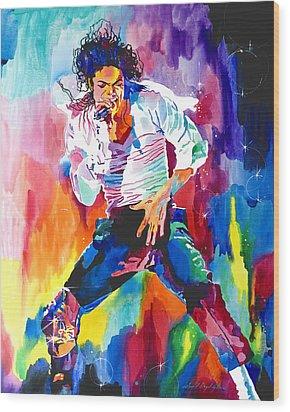 Michael Jackson Wind Wood Print by David Lloyd Glover
