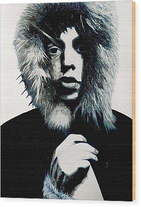 Mick Jagger - Rolling Stones Wood Print by Jocelyn Passeron