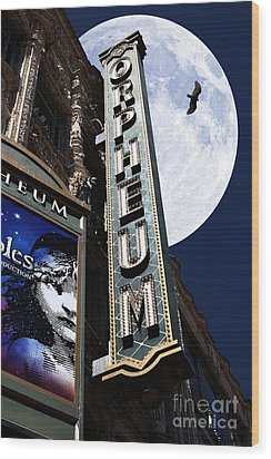Midnight At The Orpheum - San Francisco California - 5d17991 Wood Print by Wingsdomain Art and Photography