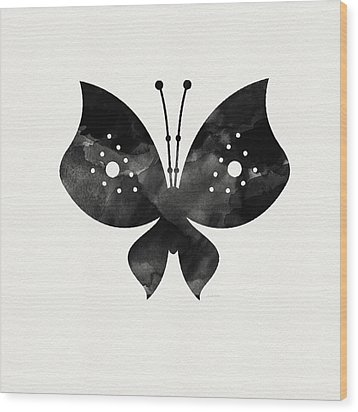 Midnight Butterfly 2- Art By Linda Woods Wood Print by Linda Woods