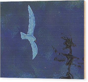 Midnight Wood Print by Manuel Sueess