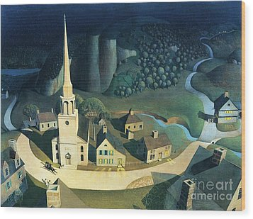 Midnight Ride Of Paul Revere Wood Print by Pg Reproductions