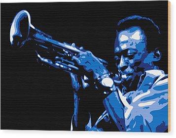 Miles Davis Wood Print by DB Artist