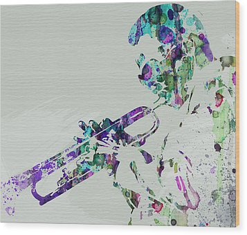 Miles Davis Wood Print by Naxart Studio