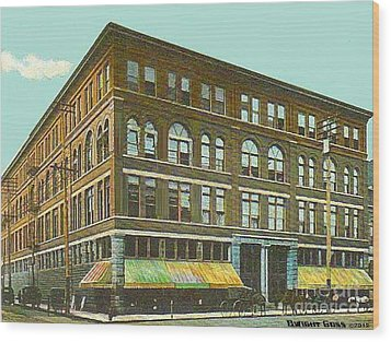 Miller Bros. Department Store In Chattanooga Tn In 1910 Wood Print by Dwight Goss
