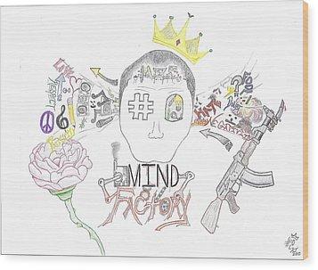 Mind Factory Wood Print by Devrryn Jenkins