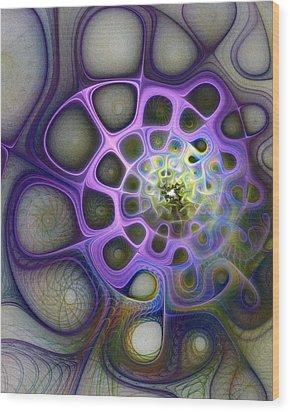 Mindscapes Wood Print by Amanda Moore