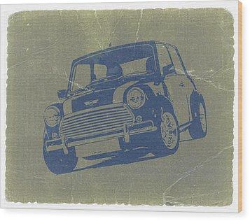 Mini Cooper Wood Print by Naxart Studio