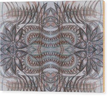 Mirror Image Wood Print by Ariela
