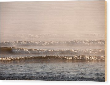 Misty Mist Wood Print by Svetlana Sewell