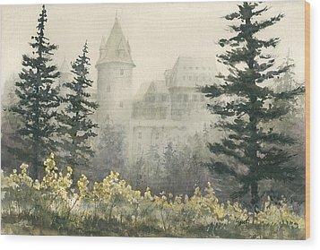 Misty Morning Wood Print by Sam Sidders