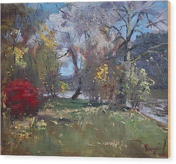 Mixed Weather In A Fall Afternoon Wood Print by Ylli Haruni