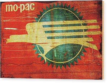 Mo-pac Caboose  Wood Print by Toni Hopper