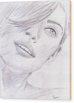 Model Wood Print by M Valeriano