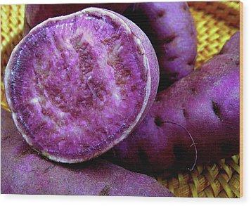 Moloka'i Purple Sweet Potatoes Wood Print by James Temple
