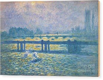 Monet: Charing Cross Wood Print by Granger