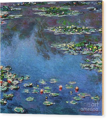 Monet: Waterlilies, 1906 Wood Print by Granger