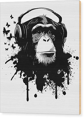 Monkey Business Wood Print by Nicklas Gustafsson