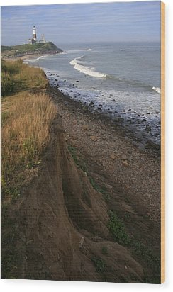 Montauk Surf And Turf Wood Print by Christopher Kirby