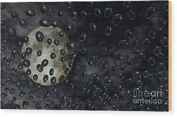 Moon Drops Wood Print by Richard Rizzo
