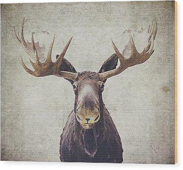 Moose Wood Print by Nastasia Cook