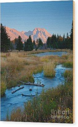 Moran Morning Wood Print by Idaho Scenic Images Linda Lantzy