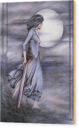 Morgan Le Fay Wood Print by Johanna Pieterman
