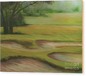 Morning Fairway Wood Print by Michele Hollister - for Nancy Asbell