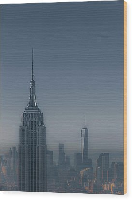 Morning In New York Wood Print by Chris Fletcher