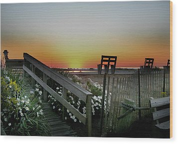 Morning View  Wood Print by Skip Willits