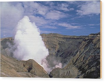 Wood Print featuring the photograph Mount Aso by Travel Pics