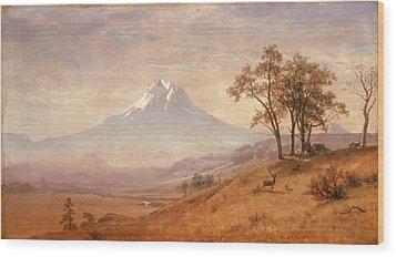 Mount Hood Wood Print by Albert Bierstadt