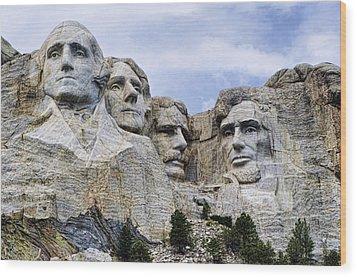 Mount Rushmore National Monument Wood Print by Jon Berghoff