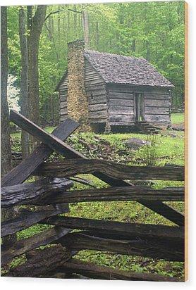 Mountain Homestead Wood Print by Marty Koch
