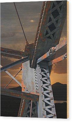 Mountain Iron Wood Print by Carver Kearney