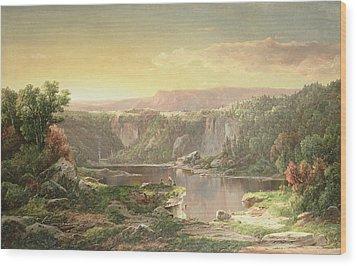 Mountain Lake Near Piedmont Wood Print by William Sonntag