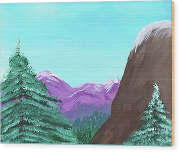 Mountain View Wood Print by M Valeriano