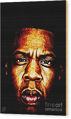 Mr Carter Wood Print by The DigArtisT