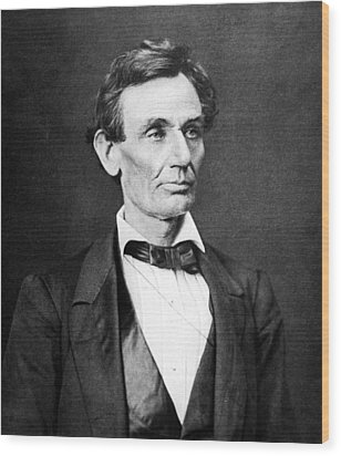 Mr. Lincoln Wood Print by War Is Hell Store