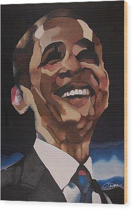 Mr. Obama Wood Print by Chelsea VanHook