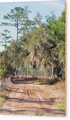Muddy Road Wood Print by Jan Amiss Photography