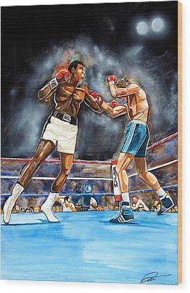 Muhammad Ali Wood Print by Dave Olsen