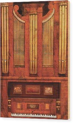 Music - Organist - Skippack  Ville Organ - 1835 Wood Print by Mike Savad