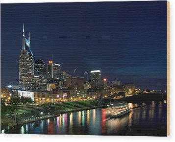 Music City Queen At Nashville Wood Print by Mark Currier