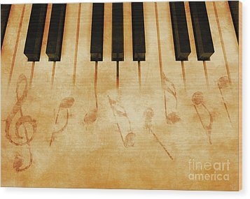 Music Wood Print by Giordano Aita