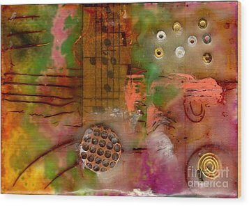Musical Notes Wood Print by Angela L Walker