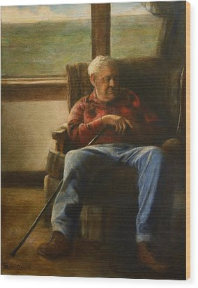 My Father Wood Print by Wayne Daniels