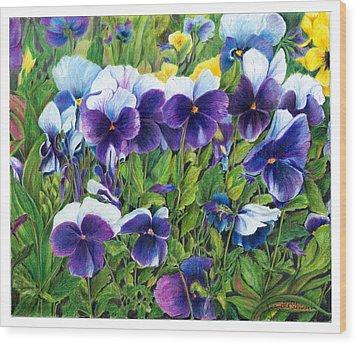 My Field Of Flowers Wood Print by Jeanette Schumacher